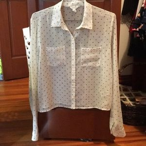 Polka dot blouse